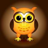 Cartoon orange owl Stock Photography