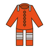 Cartoon orange suit overall uniform worker protective design. Vector illustration eps 10 Stock Images