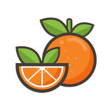 Cartoon orange Stock Photography