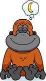 Cartoon Orangutan Dreaming Stock Photos