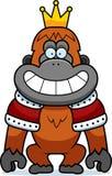 Cartoon Orangutan King Stock Images