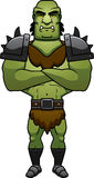 Cartoon Orc Arms Crossed Stock Photo