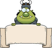 Cartoon Orc Banner Royalty Free Stock Photos