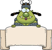 Cartoon Orc Banner Stock Photography
