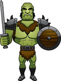 Cartoon Orc Battle Royalty Free Stock Photos