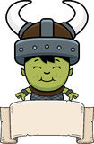 Cartoon Orc Child Banner Stock Images