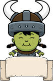 Cartoon Orc Child Banner Royalty Free Stock Photography
