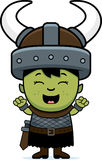 Cartoon Orc Child Celebrate Royalty Free Stock Images