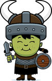 Cartoon Orc Child Sword Royalty Free Stock Photo