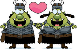 Cartoon Orc Couple Stock Photo