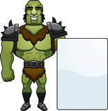 Cartoon Orc Sign Royalty Free Stock Images