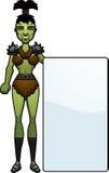 Cartoon Orc Sign Royalty Free Stock Photo