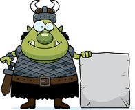 Cartoon Orc Stone Royalty Free Stock Photos