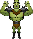 Cartoon Orc Surrender Stock Images