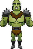 Cartoon Orc Thumbs Up Royalty Free Stock Images