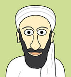 Cartoon Osama bin Laden. Illustrated terrorist Osama bin Laden Royalty Free Stock Photo