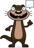 Cartoon Otter Talking Royalty Free Stock Images