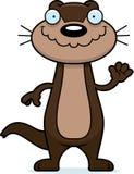Cartoon Otter Waving Stock Photos