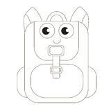 Cartoon outlined object. Royalty Free Stock Photography