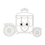 Cartoon outlined object. Royalty Free Stock Image