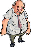 Cartoon overweight man looking very sad Stock Photo