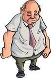 Cartoon overweight man looking very sad. Isolated on white Stock Photo