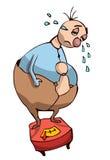 Cartoon Overweight Sad Person. Stock Photography