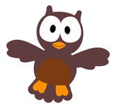 Cartoon owl Stock Image