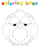 Cartoon owl coloring book Royalty Free Stock Photo