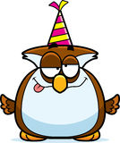 Cartoon Owl Drunk Party Stock Photo