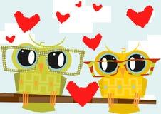 Cartoon owl Stock Photography