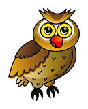 Cartoon owl isolated over white background Royalty Free Stock Photography