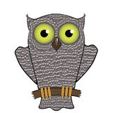 Cartoon Owl  Isolated on White Background. Royalty Free Stock Photos