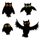 Cartoon Owl siluet Stock Photo