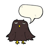 cartoon owl with speech bubble Royalty Free Stock Images