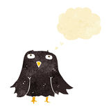 cartoon owl with thought bubble Stock Photos