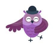 Cartoon owl vector  Royalty Free Stock Photos
