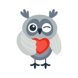 Cartoon owl vector isolated Royalty Free Stock Image
