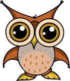 Cartoon owl wants to fly royalty free illustration