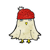 Cartoon owl wearing hat Royalty Free Stock Images