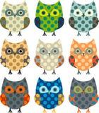 Cartoon owls Royalty Free Stock Image