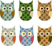 Cartoon owls Royalty Free Stock Photo