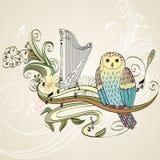 Cartoon owls Stock Photos