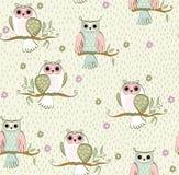 Cartoon owls Stock Photography