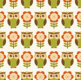 Cartoon owls seamless pattern Royalty Free Stock Photography