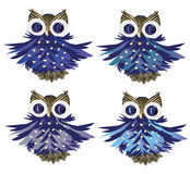 Cartoon owls vector set Stock Image