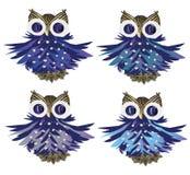 Cartoon owls vector set Stock Image