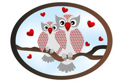 Cartoon owls - Stock illustration Stock Image