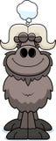 Cartoon Ox Dreaming Stock Photography