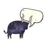 cartoon ox with speech bubble Stock Photo